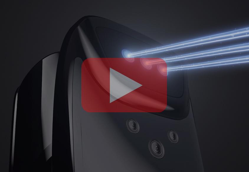 皇家金盾F60DM全自动3D人脸+猫眼锁三维动画